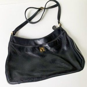 Étienne Aigner Black Leather Shoulder Bag